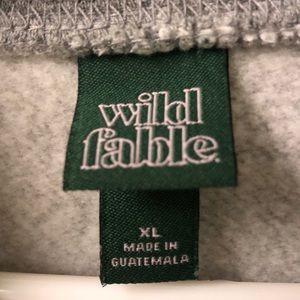 wild fable Tops - White Fable Hoodie Sweatshirt Sz. XL - NWOT